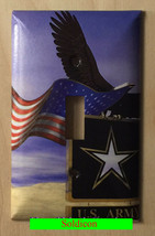 USA U.S. Army Eagle Flag Light Switch Power Outlet Cover Wall Plate Home Decor