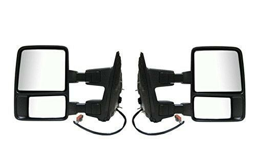 Power Towing Mirrors Left Right Pair Passenger Driver Ford Super Duty Set - $260.99