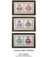 Cream & Sugar Collection 6 charts MD212P cross stitch chart Nora Corbett - $21.60