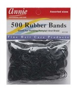 Annie 500 Rubber Bands Ponytail Holding Elastic Ring Black #3158 Assorte... - $4.90
