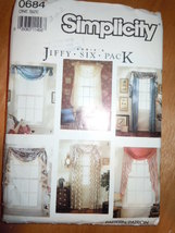 Simplicity Abbie's Jiffy Six Pack Curtains #0684 1981 Uncut - $4.99