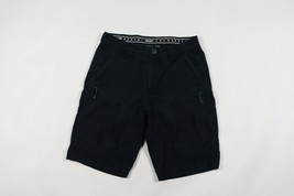 Armani Exchange Mens Size 32 Spell Out Casual Summer Cargo Shorts Navy Blue - $39.55