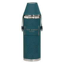 Ted Baker Hip Flask with Shot Cups Teal - $39.59