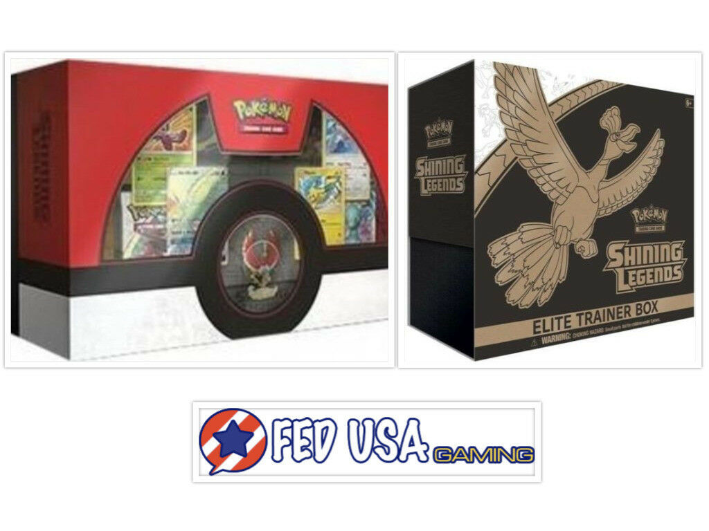 Pokemon Shining Legends Super Premium Ho-Oh Collection and Elite Trainer Box