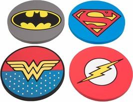 DC Justice League Super Hero Coaster Set - Batman, Superman, Wonder Woma... - $29.99