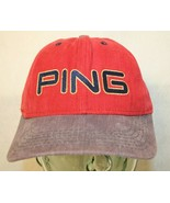 PING Golf made in USA adjustable strapback embroidered red Dad trucker c... - $29.95