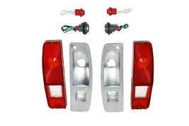 64-72 FORD Truck F100 F-100 Tail Light Lens Set With Housing F150 F-150 F-Series image 6