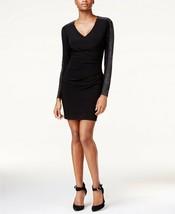 GUESS Studded Ruched Sheath Dress Black Size 12 $118 - $33.24