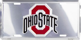Ohio State Embossed Chrome Metal Auto Tag License Plate Sign - $6.95