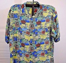 Big Dogs Hawaiian Shirt 3XL Multi-color w/Tequila Bottles Short Sleeve R... - $38.99
