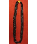 Vintage Necklace with 4 Strands of Brown Sparkle Glass Beads  (#496) - $39.00