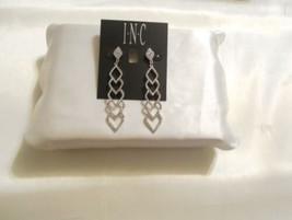 "INC 2-7/8"" Silver-Tone Pave Kite Linear Drop Earrings F261 - $16.31"