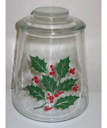 Bartlett Collins Glass Christmas Holly and Berries Cookie Jar - $43.99