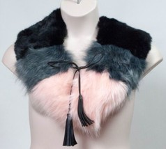 "Winter Women Steve Madden Faux Fur Neck Collar Tie Scarf ""Blush"" Color B... - £10.76 GBP"