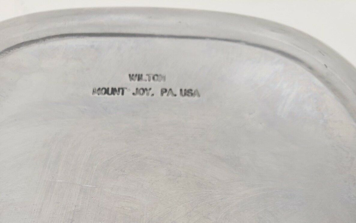 """Wilton Armetale Pewter Tray """"Give Us This Day our Daily Bread"""""""