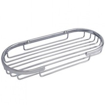 NIB Signature Hardware Brass Mounted Shower Basket - Chrome - $9.99