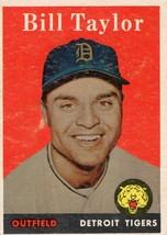 1958 Topps Baseball Card BILL TAYLOR #389  Detroit Tigers - $3.71