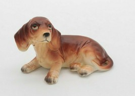 BEAUTIFUL SHORT HAIR DACHSHUND PUPPY DOG FIGURINE VTG LEFTON JAPAN - $49.00