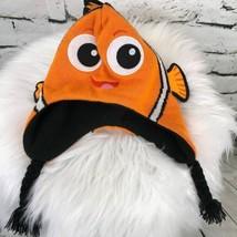 Disney Pixar Finding Neno Unisex Kids One Sz Hat Orange Trapper Winter K... - $9.89