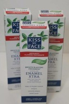 3 boxes Kiss My Face Enamel Xtra Toothpaste 4.5 oz Cool Mint Gel New Exp... - $18.76