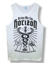 Bring Me The Horizon-Snake-XXL White Tanktop  T-shirt - $16.39