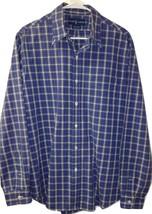 Ralph Lauren Men's Blue Plaid Long Sleeve Button Down Shirt w/Pocket Siz... - $17.81
