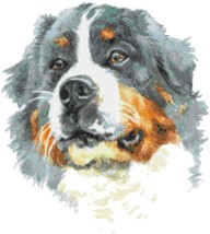 Counted Cross Stitch pattern watercolor pet dog 167 * 186 stitches BN1972 - $3.99