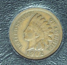 1902 Indian Head Penny VF #0457 - $4.29