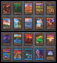 Set of Dual Lands (V.1) & Power 9 (10) Custom Cards Alternate Art  20 Cards - $49.99