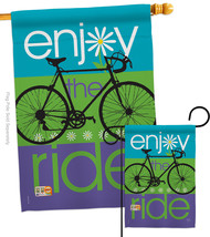 Bike Ride - Impressions Decorative Flags Set S109040-BO - $57.97