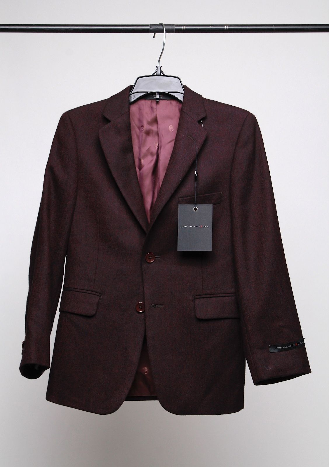 Primary image for John Varvatos Boys' Herringbone Sport Coat Burgundy Size 8R