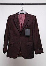 John Varvatos Boys' Herringbone Sport Coat Burgundy Size 8R - $74.24