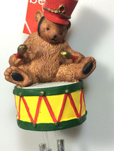 Department 56 bear Chritsmas decoration wind chimes new old stock - $19.79