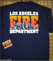 NEW NAVY LAFD HOLLYWOOD SKYLINE T-SHIRT LOS ANGELES City FIRE DEPT TEE S... - $22.19+