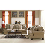 JOYCE - Traditional Tan Oversized Chenille Sofa Couch Set Living Room Fu... - $1,534.79