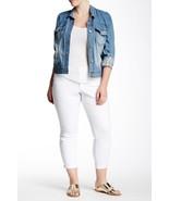 Jessica Simpson Women's Forever Skinny White Crop Jeans 22W 24W Plus Str... - $27.87