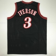 New ALLEN IVERSON Philadelphia Black Custom Stitched Basketball Jersey M... - €44,74 EUR