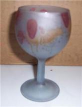 Vintage Reuven Handpainted Nouveau Art Design Plate Goblet Glass - $16.99