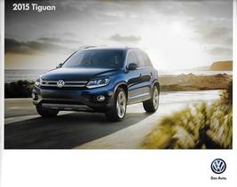 2015 Volkswagen TIGUAN sales brochure catalog US 15 VW SE SEL R-Line - $8.00
