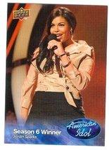 Jordin Sparks trading card (Singer) 2009 Upper Deck American Idol #009 - $4.00
