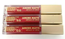 Milani ~ Amore Matte Metallic Lip Creme ~ 06 Mattely In Love ~ Lot Of 3 - Sealed - $13.98
