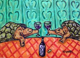 animal Art oil painting printed on canvas home decor TURTLE wine  - $14.99+