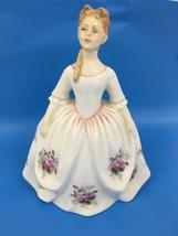 "Royal Doulton Figurine 6"" Lavender Rose 1992 Peggy Davies England Bone C... - $23.76"