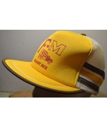 Vintage Strapback Trucker Mesh Hat San Sun Tri Striped F-M Ready Mix Far... - $20.82