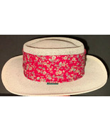 Chi-Chi Collection Ivory Straw Hat Fits Small/Medium Unisex Red Floral B... - $26.44