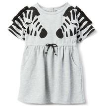 NWT Gymboree Camp Must-Haves Zebra Gray Short Sleeve Girls Dress 3T 4T 5T - $12.99