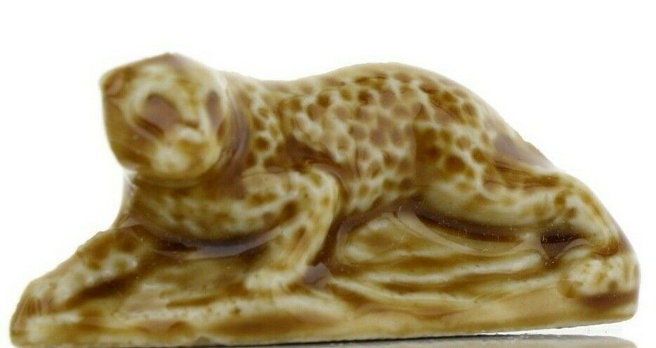 Leopard Miniature Porcelain Animal Figurine - Whimsies by Wade