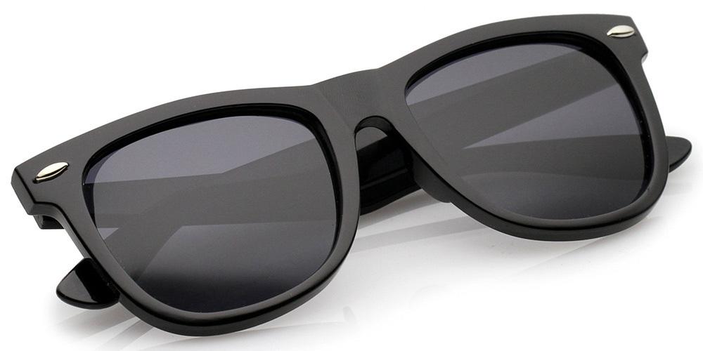 Classic Polarized Wayfarer Sunglasses with Microfiber Pouch