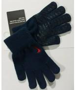 Nike Knitted Grip Tech Gloves DARK BLUE RED Swoosh Youth S/M Unisex Bran... - $15.68