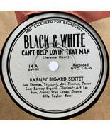 Barney Bigard Sextet 78 RPM Record Can't Help Lovin That Man Don't Talk B&W - $10.40